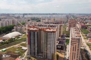 Фотоотчёт о строительстве ЖК Олимп - Апрель 2020